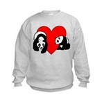 Panda Bear Love Kids Sweatshirt