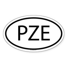PZE Oval Decal