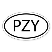 PZY Oval Decal