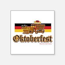 Oktoberfest Beer Wagon Sticker