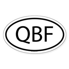 QBF Oval Decal