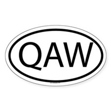QAW Oval Decal