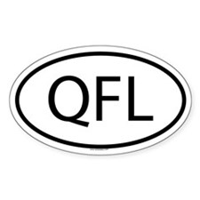 QFL Oval Decal