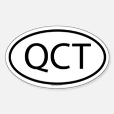 QCT Oval Decal