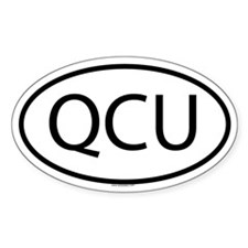 QCU Oval Decal