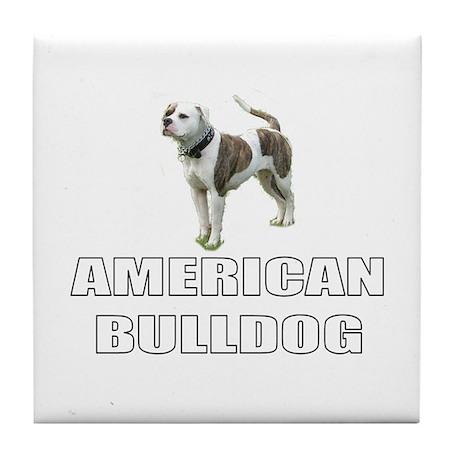 American Bulldog Tile Coaster