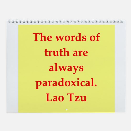 Lao Tzu Wall Calendar