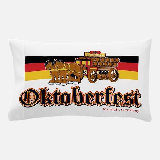 Oktoberfest Beer Wagon Pillow Case