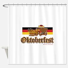 Oktoberfest Beer Wagon Shower Curtain