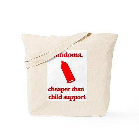 Condoms, cheaper than child s Tote Bag