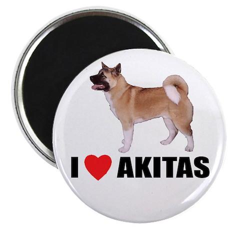 I Love Akitas Magnet