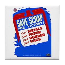 Save Scrap!  Tile Coaster