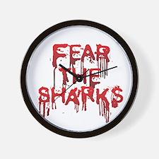 Fear the Sharks - Shark Wall Clock