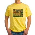 Lilies / Gr Dane (f) Yellow T-Shirt