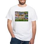 Lilies / Gr Dane (f) White T-Shirt