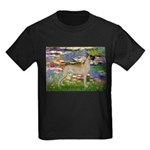 Lilies / Gr Dane (f) Kids Dark T-Shirt