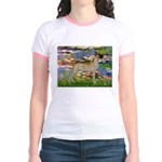 Lilies / Gr Dane (f) Jr. Ringer T-Shirt