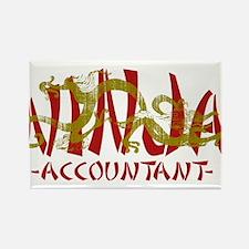 Dragon Ninja Accountant Magnets