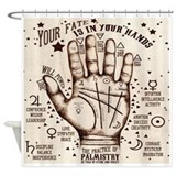 Palmistry Shower Curtains