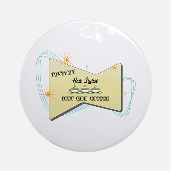 Instant Hair Stylist Ornament (Round)
