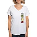 Belgique Stamp Women's V-Neck T-Shirt
