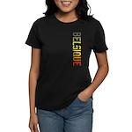 Belgique Stamp Women's Dark T-Shirt