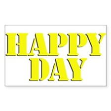 Happy days Rectangle Decal