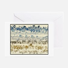 BACH Music Autograph Greeting Cards