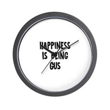 Happiness is being Gus Wall Clock