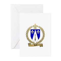 DUBE Family Crest Greeting Cards (Pk of 20)