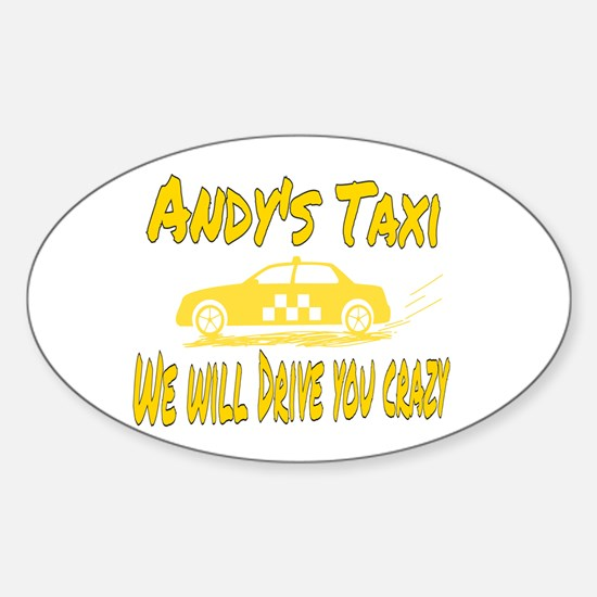 Andy's Taxi Decal