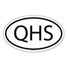 QHS Oval Decal