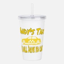 Andy's Taxi Acrylic Double-wall Tumbler