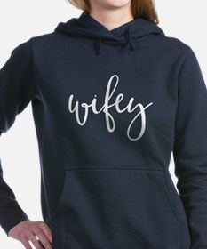 Typographic Script Wifey Women's Hooded Sweatshirt
