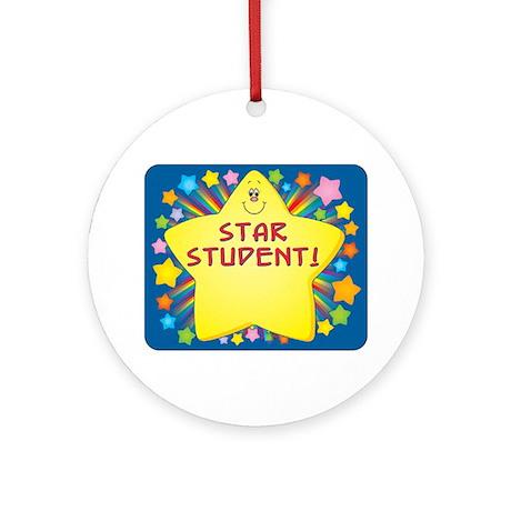 Star Student Ornament (Round)