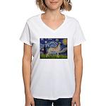 Starry / Gr Dane (f) Women's V-Neck T-Shirt