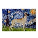 Starry / Gr Dane (f) Postcards (Package of 8)