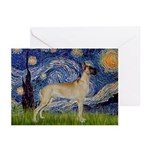 Starry / Gr Dane (f) Greeting Cards (Pk of 20)