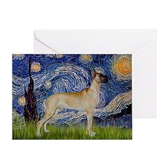 Starry / Gr Dane (f) Greeting Card