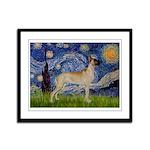 Starry / Gr Dane (f) Framed Panel Print