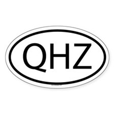 QHZ Oval Decal