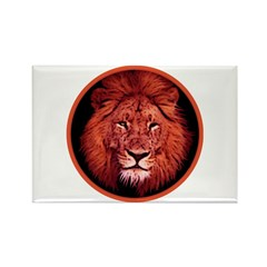 Red Lion Circle Rectangle Magnet (10 pack)