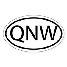QNW Oval Decal
