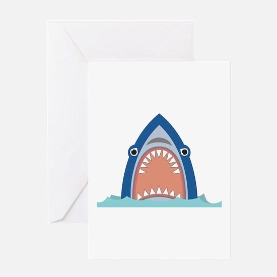 Shark Face Greeting Cards