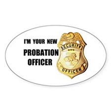 PROBATION OFFICER Oval Decal