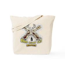 hunt sleep eat repeat Tote Bag