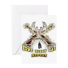 hunt sleep eat repeat Greeting Card