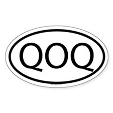 QOQ Oval Decal