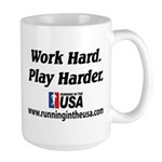 RUSA - Work Hard. Play Harder Large Mug