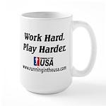 RUSA - Work Hard. Play Harder Large Mug
